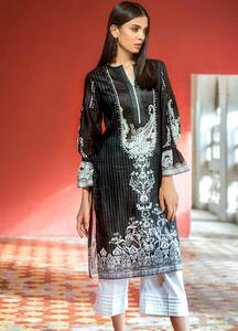 Gul Ahmed Printed Lawn Unstitched Kurties GA19BW SB-14 - Black & White Collection