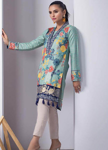 Orient Textile Embroidered Cotton Cotel Unstitched Kurties OT18W 216B Ottoman - Winter Collection