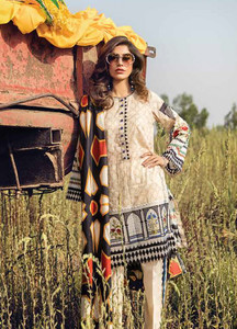 Cross Stitch Embroidered Lawn Unstitched 3 Piece Suit CS18E 11 - Eid Collection