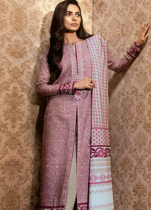 Al Karam Embroidered Khaddar Unstitched 2 Piece Suit AK18W FW 62.1 LILAC - Winter Fashion