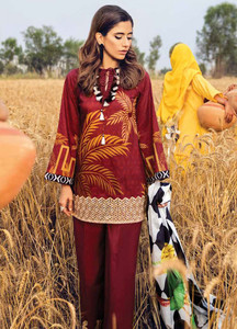 Cross Stitch Embroidered Lawn Unstitched 3 Piece Suit CS18E 10 - Eid Collection