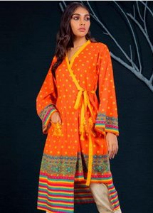 Orient Textile Embroidered Khaddar Unstitched Kurties OT19W 175 FIRE A - Winter Collection