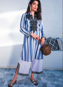 Cross Stitch Embroidered Lawn Unstitched 2 Piece Suit CS19-L2 17 PASTORAL VISION - Spring / Summer Collection