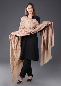 Sanaulla Exclusive Range Pashmina Embroidered Shawl 460 - Kashmiri Shawls