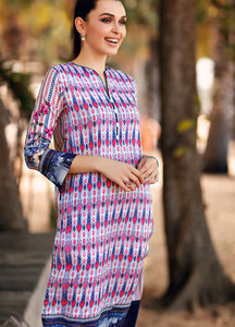Gul Ahmed Printed Lawn Unstitched Kurties GBC19MFL SL 607 - Spring Summer Collection