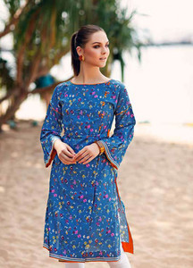 Gul Ahmed Printed Lawn Unstitched Kurties GBC19MFL SL 615 - Spring Summer Collection