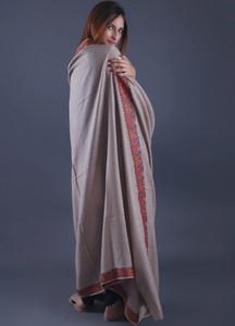 Sanaulla Exclusive Range Pashmina Embroidered Shawl 326 - Kashmiri Shawls