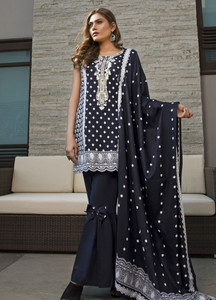 Rangreza Embroidered Lawn Unstitched 3 Piece Suit RZS19L 03B - Spring / Summer Collection