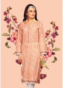Gul Ahmed Printed Lawn Unstitched Kurties GAB19L SL-666 - Spring / Summer Collection