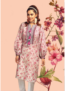 Gul Ahmed Printed Lawn Unstitched Kurties GAB19L SL-667 - Spring / Summer Collection