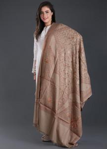 Sanaulla Exclusive Range Embroidered Pashmina Shawl 171 - Kashmiri Shawls