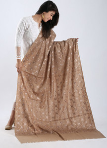 Sanaulla Exclusive Range Embroidered Pashmina Shawl 94 - Kashmiri Shawls