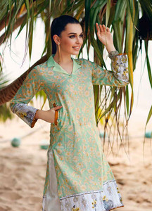 Gul Ahmed Printed Lawn Unstitched Kurties GBC19MFL SL 614 - Spring Summer Collection