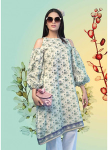 Gul Ahmed Printed Lawn Unstitched Kurties GAB19L SL-663 - Spring / Summer Collection