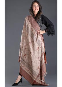 Sanaulla Exclusive Range Embroidered Pashmina Shawl 134 - Kashmiri Shawls