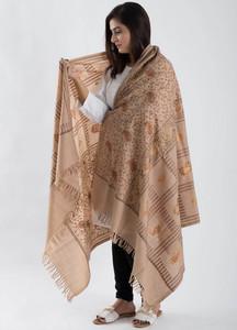Sanaulla Exclusive Range Textured Pashmina Shawl 82 - Kashmiri Shawls