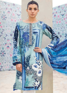 Cross Stitch Embroidered Lawn Unstitched 3 Piece Suit CS18-L2 10 - Spring / Summer Collection