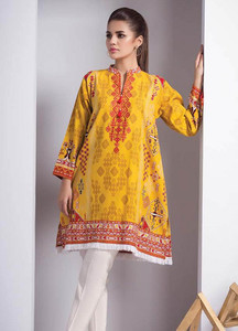 Orient Textile Embroidered Cotton Cotel Unstitched Kurties OT18W 208A Izmir - Winter Collection
