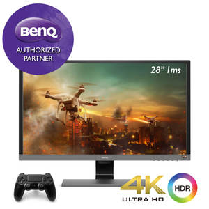 BenQ EL2870U 4K HDR 1ms 28 inch 28 Best for PS4 Pro & Xbox One X 1ms Fast Response Time Gaming Eye Care Monitor