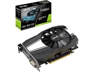 ASUS GeForce GTX 1660 TI 6GB Phoenix Fan Overclocked Edition Graphics Card (PH-GTX1660TI-O6G)