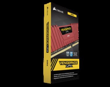 Corsair Vengeance LPX 8GB (1x8GB) DDR4 DRAM 2400MHz C14 Memory Kit  Red (CMK8GX4M1A2400C16R)