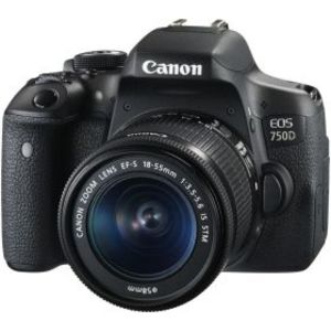 Canon EOS 750D 24.2MP DSLR Camera Black (Lens Options)