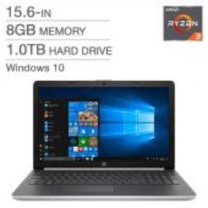 "HP 15 - DB0003ca - AMD Ryzen 3 2200U DualCore 08GB 1-TB HDD 15.6"" HD LED 720p Radeon-Vega 3 Graphics W10 (Natural Silver, Open Box)"
