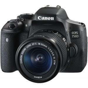 Canon EOS 750D 24.2MP 18-55mm Lens DSLR Camera Black