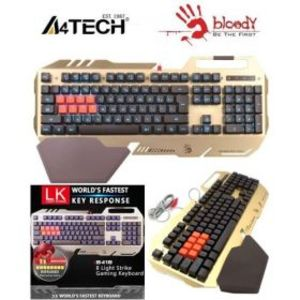 A4Tech B418 Light Strike Bloody Mechanical Gaming Keyboard (Golden)