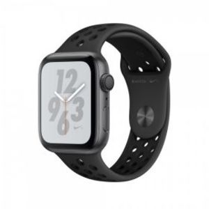 Apple iWatch MTXE2 Series 4 44mm Space Gray Aluminum Case with Black Nike Sport Band + 4G