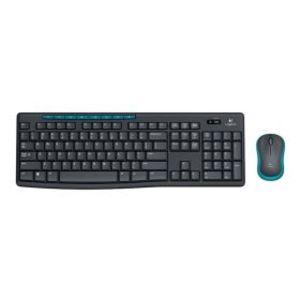 Logitech MK275 Combo Wireless Keyboard (Black+Blue)