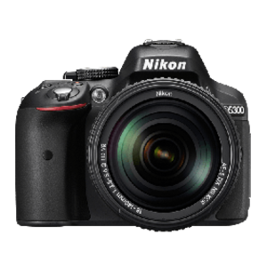 Nikon D5300 24 MP 18-55mm lens Wi-Fi DSLR Camera Black