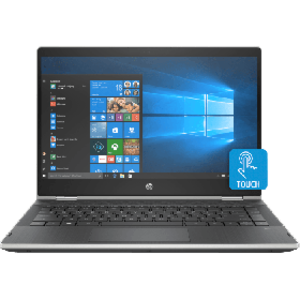 "HP Pavilion 14 CD0017TX x360 - 8th Gen Ci5 08GB 1TB HDD 14"" Full HD IPS 1080p Touchscreen Convertible Win 10 Backlit KB B&O Play (Platinum Silver, HP Direct Local Warranty)"