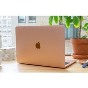 """Apple MacBook Air MVFN2 - 8th Gen Ci5 DualCore 08GB 256GB SSD 13.3"""" IPS Retina Display Backlit KB Touch-ID & Force Touch Trackpad (Gold, 2019)"""